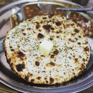 Keema Naan Served With Curry