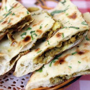 Mutton Keema Naan With Curry