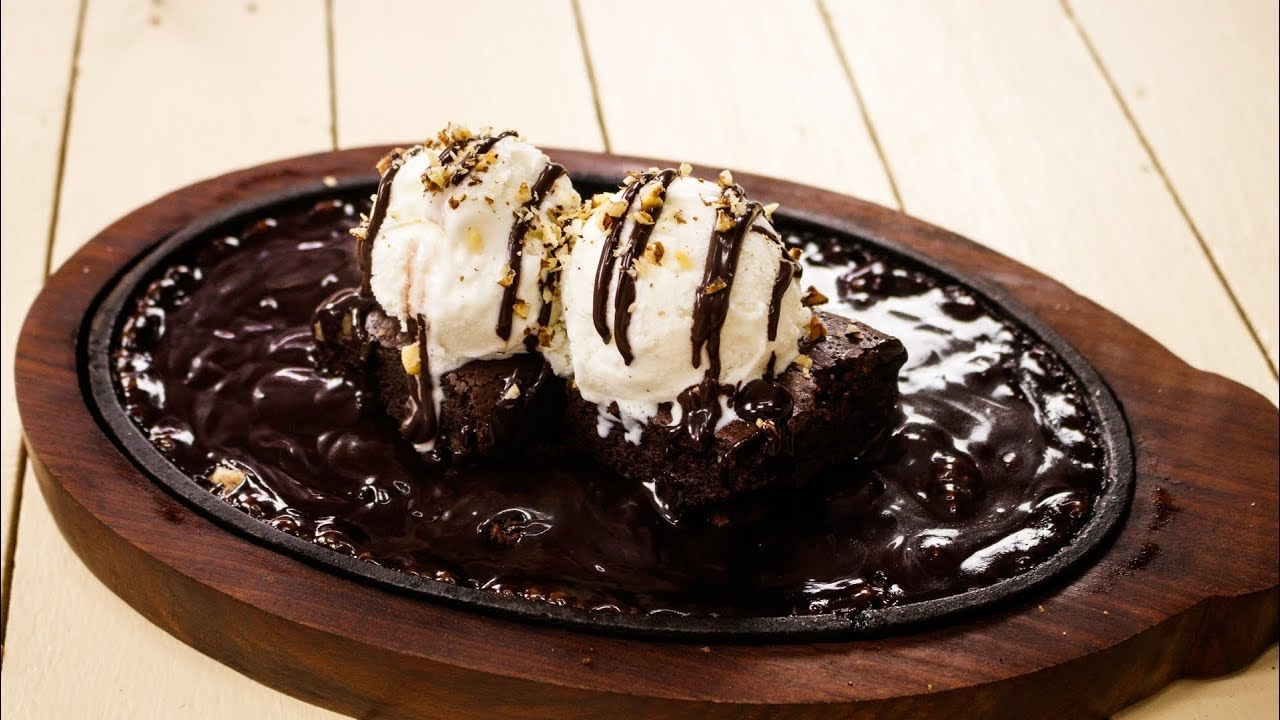 Sizzling Brownie With Hot Chocolate moti mahal sec 128noida