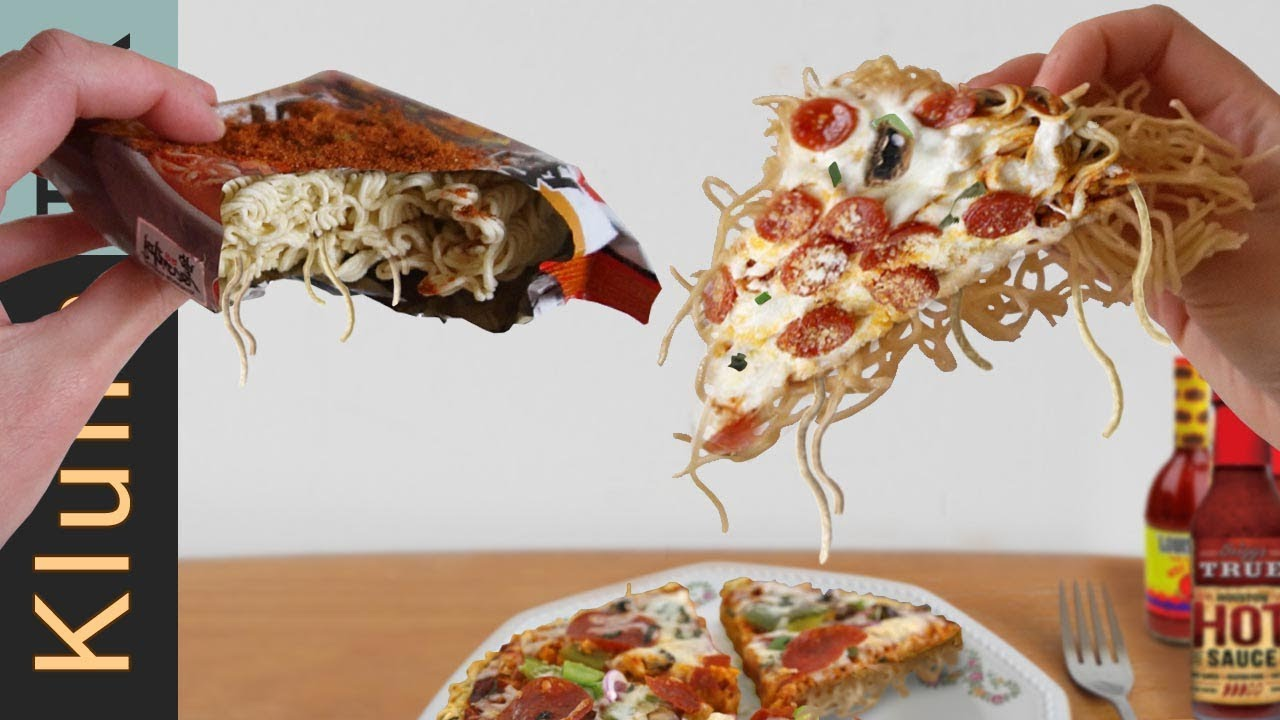 SPICY NOODLE PIZZA
