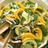 Chicken avocado and mango salad with sweet chilli dressing
