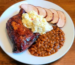 Baked Beans Salad with Smoked Chicken
